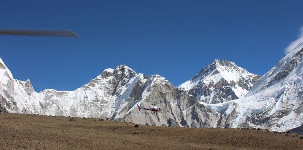 Everest Base Camp Helicopter Landing