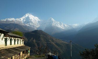 Mount Annapurna view from Ghorepani