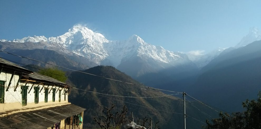 Mount Annapurna view from Ghorepani