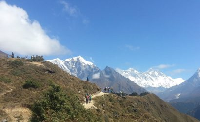 Trekkers En-route to Everest Base Camp
