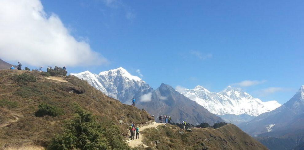 Trekkers En-route to Everest Base Camp
