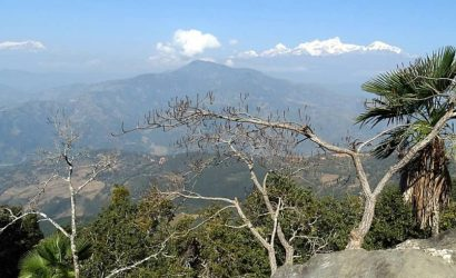 Himalayan view from Gorkha