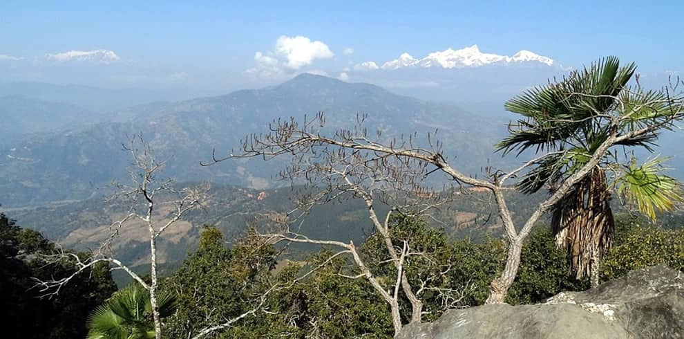 Himalayan view from Gorkha